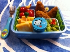 Kid's Chicken Edamame Salad and Cheese Bento (c) Edible Articles.com
